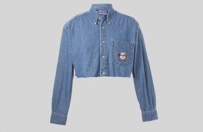 Cropped denim πουκάμισο €29.37 από Beyond Retro