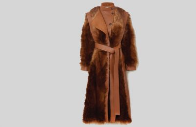 Vegetarian leather παλτό Stella McCartney €1,795 από net-a-porter