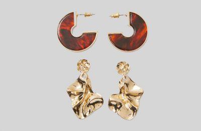 Σετ 2 ζεύγη σκουλαρίκια €5.99 από Stradivarius