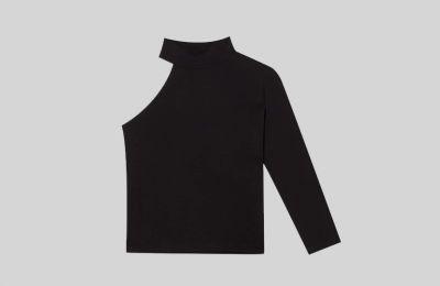 Ασύμμετρη μπλούζα με cut out €12.99 από Stradivarius