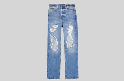 Ripped Dad Jeans από Topshop