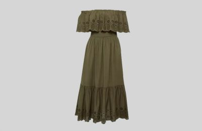 Off the shoulder φόρεμα €25 από Dorothy Perkins