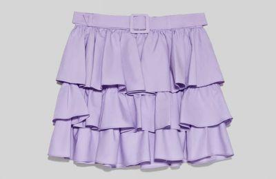 Ruffled mini φούστα €39.95 από Zara
