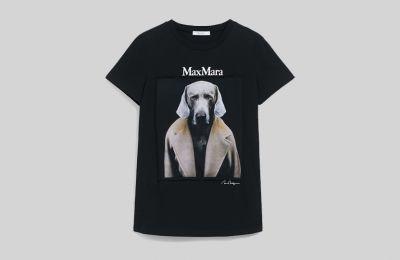 Cotton jersey μπλούζα €205 από Max Mara