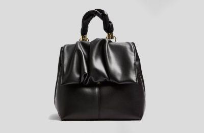 Μαύρη δερμάτινη τσάντα €25 από Topshop