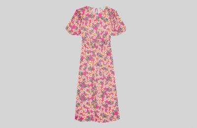 Ροζ φλοράλ φόρεμα €44 από Topshop