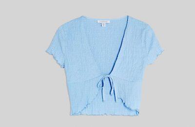 Γαλάζιο Cropped πλεκτό €22 από Topshop