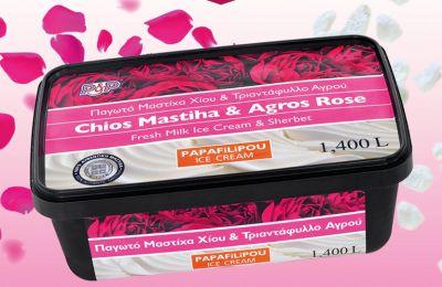 Παγωτό PAPAFiLiPOU με Μαστίχα Χίου και Τριαντάφυλλο Αγρού!