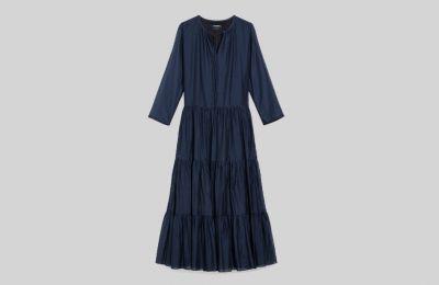Cotton και silk φόρεμα €415 από Max Mara