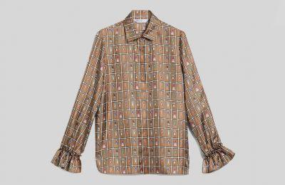 Σατέν πουκάμισο €425 από Max Mara