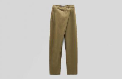 Ασύμμετρο παντελόνι από Zara