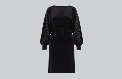 Μαύρο βελουτέ φόρεμα €363 από Marella