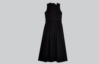 Μαύρο poplin φόρεμα από €110 Topshop