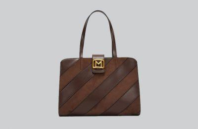 Καφέ shopper bag €135 από Marella
