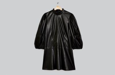 Μαύρο φόρεμα από δερματίνη €68 από Topshop