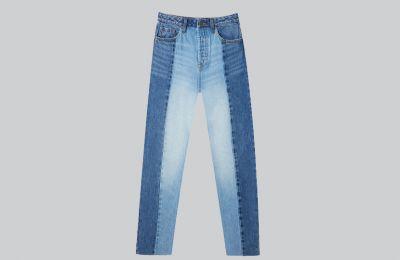 Jean παντελόνι patchwork €25.99 από Strandivarius