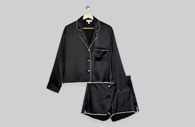 Μαύρη σατέν πιτζάμα €42 από Topshop