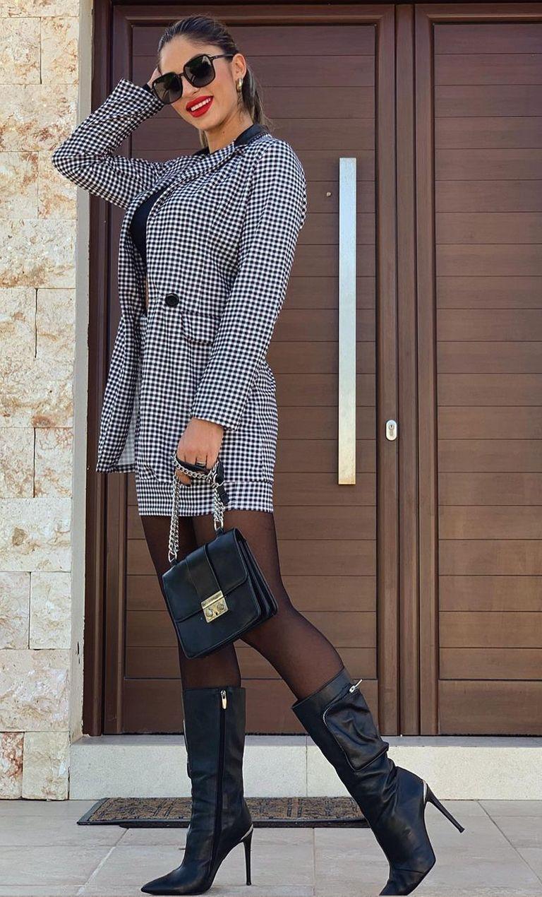 Beautiful in skirt suit