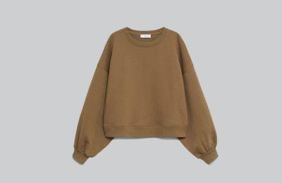 Cotton sweatshirt με puffed μανίκια €19.99 από Mango