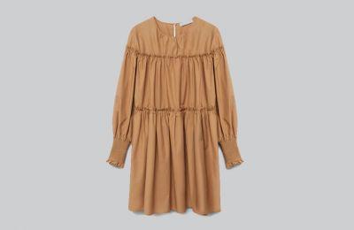 Μπεζ puffed φόρεμα €49.99 από Mango