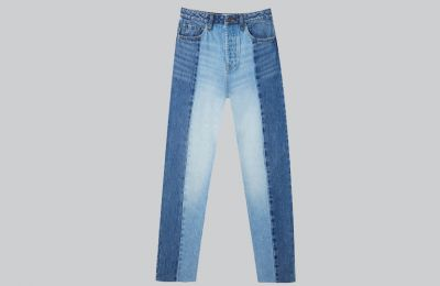Patchwork jeans από Stradivarius