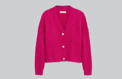 Φούξια knitted ζακέτα €49.99 από Mango