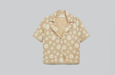 Φλοράλ πλεκτό cardigan €39.99 από Mango