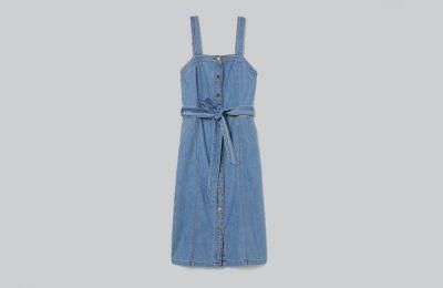 Denim dungaree φόρεμα €34.99 από H&M