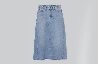 A-line denim φούστα €34.99 από H&M