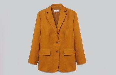 100% λινό blazer €79.99 από Mango
