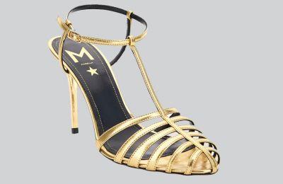 Χρυσά πέδιλα €257 από Marella