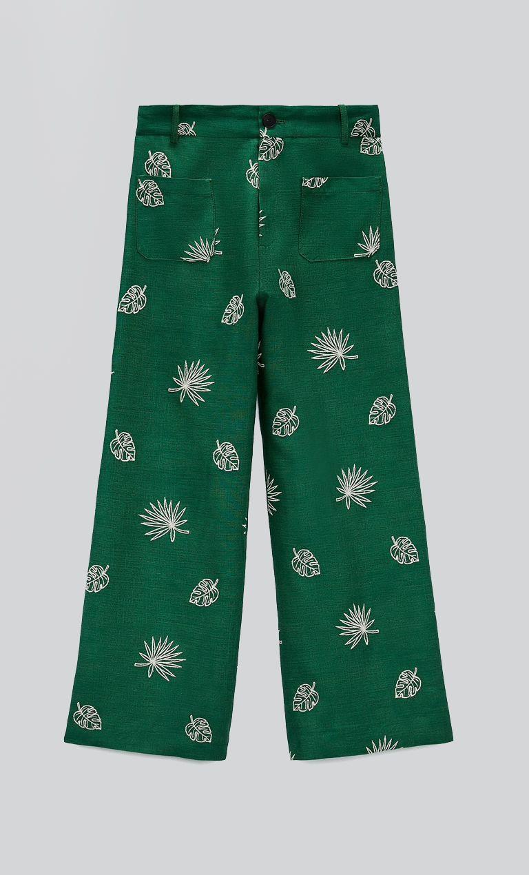 Παντελόνια με embroidered λεπτομέρειες €49.95 από Zara