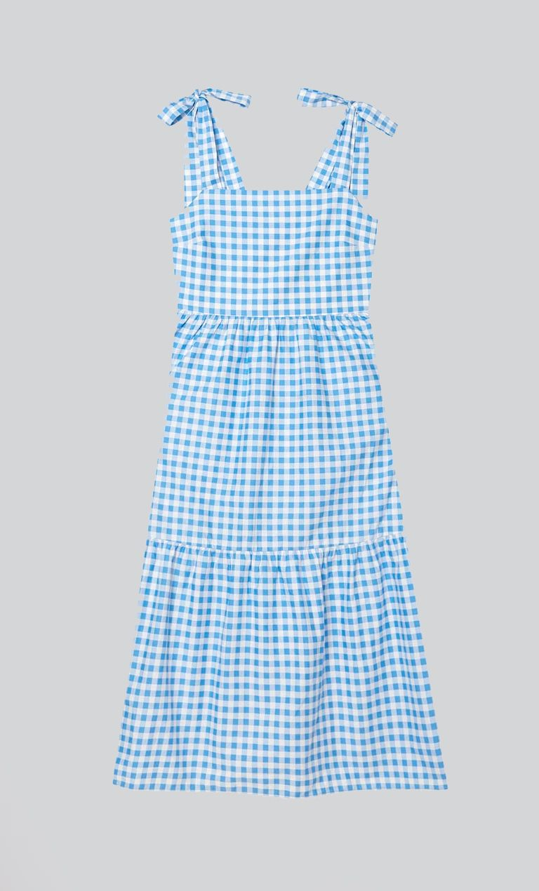 Μidi φόρεμα από ποπλίνα με τιράντες €19.99 από Stradivarius