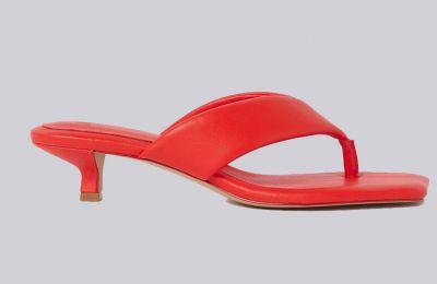 Κόκκινα toe-post mules €24.99 από H&M