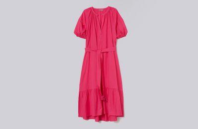 Φούξια Tie-belt φόρεμα €49.99 από H&M
