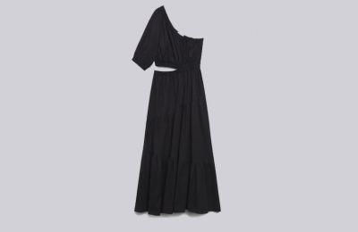 Μαύρο cotton φόρεμα €59.99 από Mango