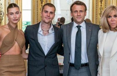 Οι Bieber επισκέφθηκαν τους Macron στη Γαλλία
