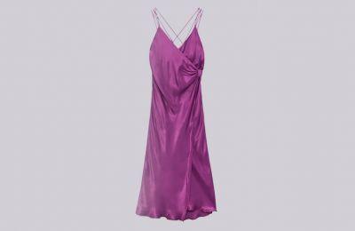 Λιλά wrap φόρεμα €29.99 από Zara