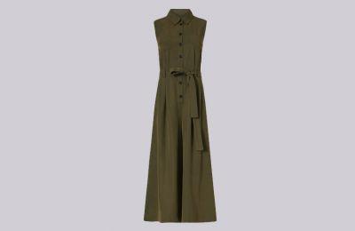 Χακί cropped jumpsuit €163 από Marella
