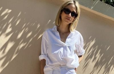 Η Σοφία Καρβέλα με φόρεμα Κύπριας σχεδιάστριας