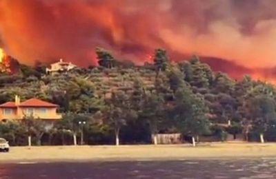 Ασύλληπτες εικόνες καταστροφής στην Εύβοια