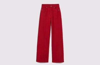 Κόκκινο wide leg παντελόνι €14.99 από H&M