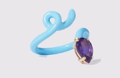 Πολύχρωμο δαχτυλίδι Bea Bongiasca €430 από net-a-porter