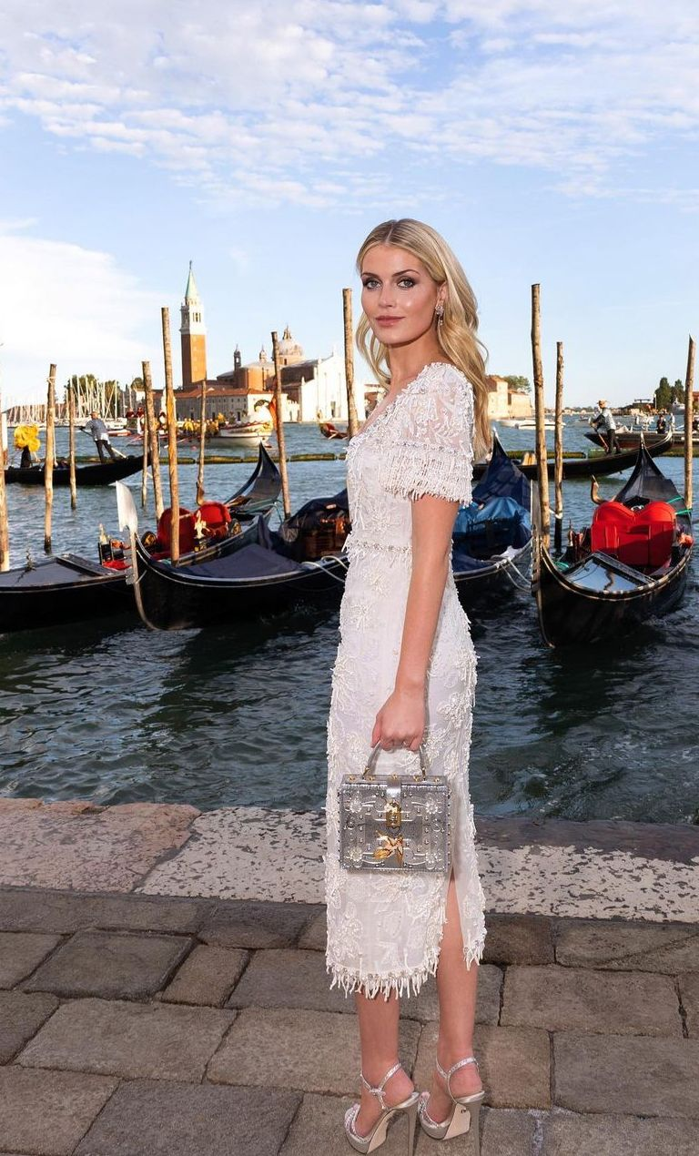 Looks ethereal in an elegant sequin dress