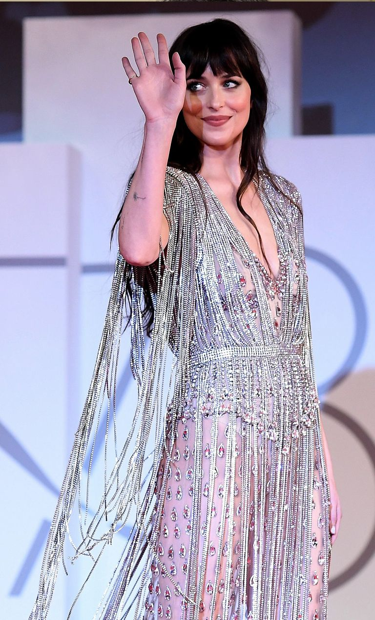 Dazzles in Totally Sheer Gown