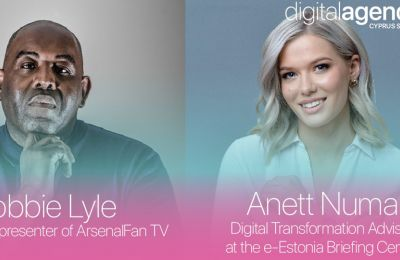 Ο Robbie Lyle και η Anett Numa στο Digital Agenda Cyprus Summit