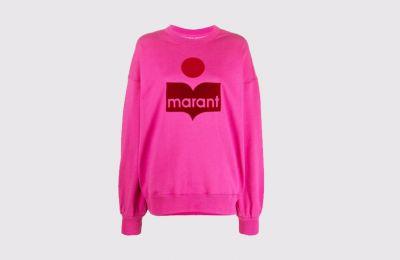Ροζ logo sweatshirt Isabel Marant €230 από Amicci