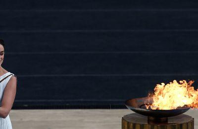 Η τελετή παράδοσης της Ολυμπιακής Φλόγας στο Παναθηναϊκό Στάδιο